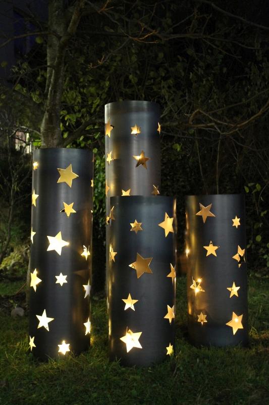 Weihnachtsbeleuchtung Basteln.Garten Deutsch